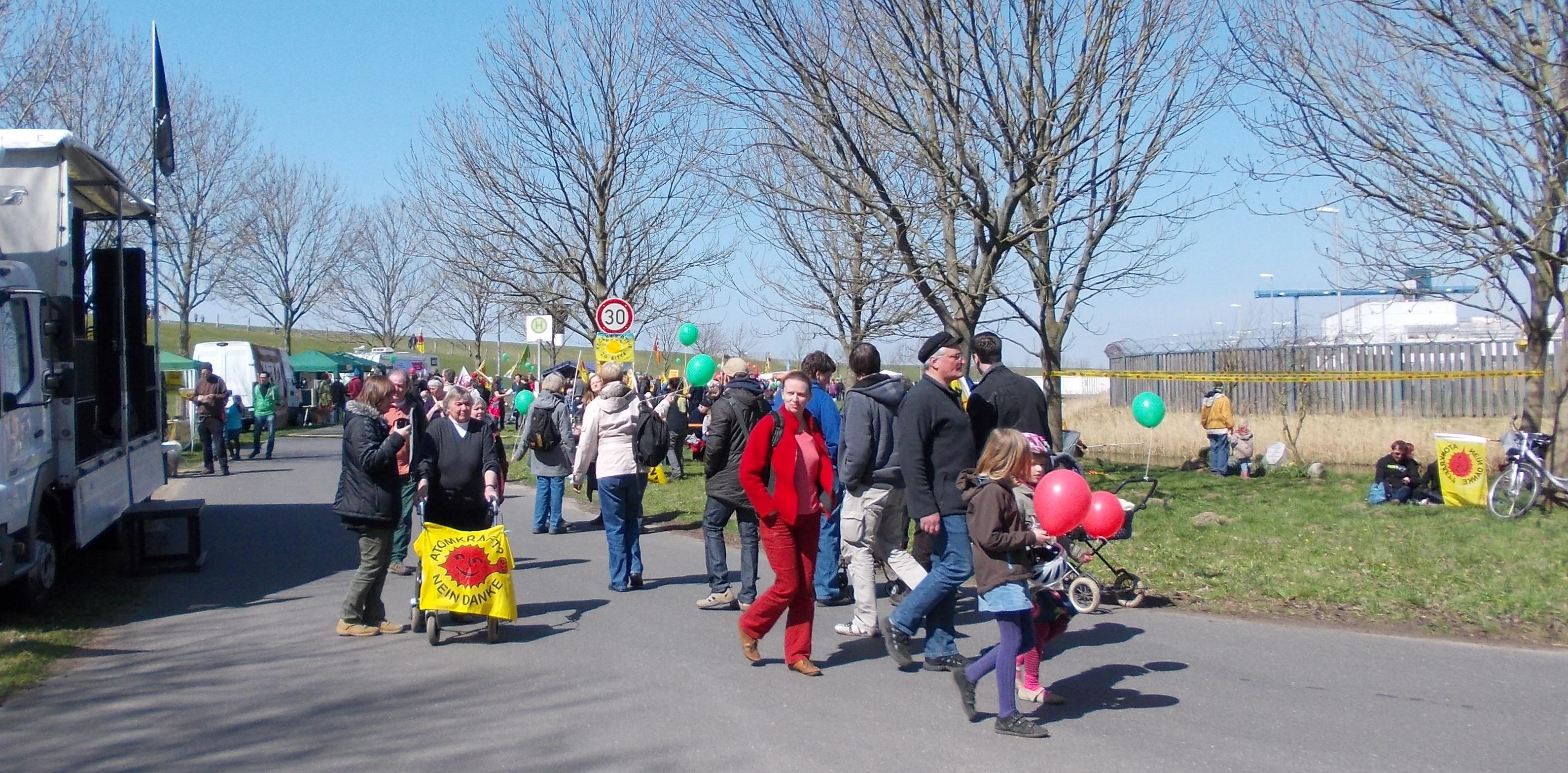 Protest- u. Kulturmeile am Akw Brokdorf 21.04.2013