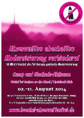 Plakat Büchel 2014 Zelte mini