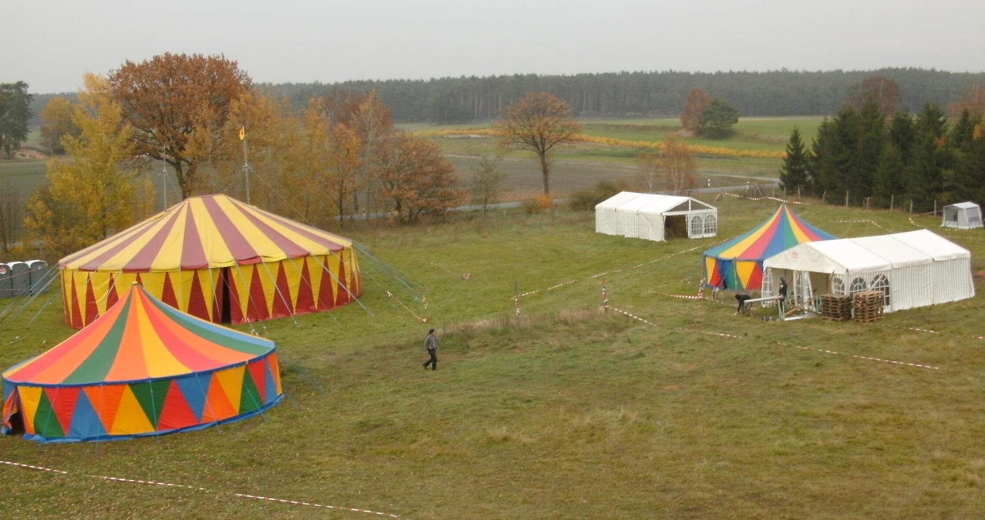 Zirkuszelt in Gedelitz 2010